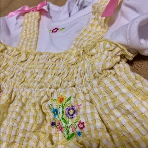 Youngland gingham dress and diaper cover